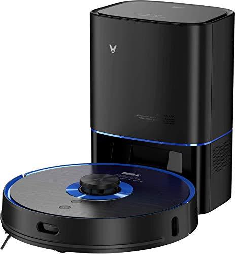 Viomi Alpha S9-UV Robot Vacuum-Mop, UV Floor Sterilizer, Auto Dirt Disposal, 2700Pa Suction, 3L Dustbin, 250ml WaterTank, 5200mAH Battery, MiHome App(Black)