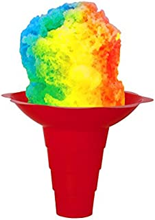 Flower Cups for Serving Shaved Ice or Snow Cones 12 OZ Large, Case of 400 Red/Yellow