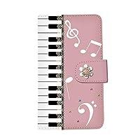 iPhone 7(4) 手帳型 スマホケース ピアノ [カードポケット/スタンド機能/全面保護] かわいい おしゃれ 全機種対応 スマホカバー smh-086 (NEW D)