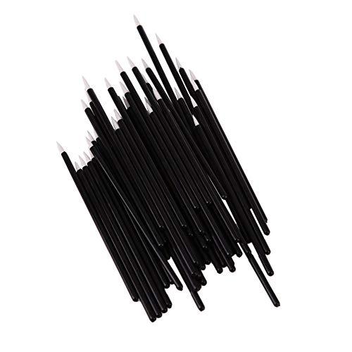 N-K Lot de 50 pinceaux jetables pour eye-liner, eye-liner, baguette magique liquide, outils de maquillage pour les yeux - Pinceaux cosmétiques - Économiques et durables.