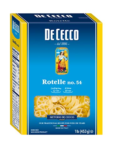 De Cecco Semolina Pasta, Rotelle No.54, 1 Pound (Pack of 12)