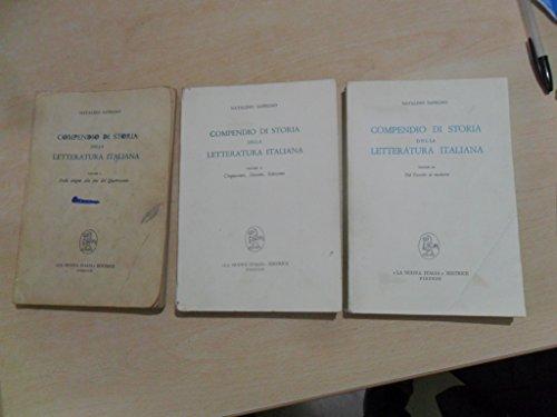 Compendio di Storia della Letteratura italiana (tre volumi)