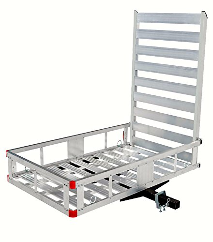 MAXXHAUL 80779 Aluminum Hitch Mount Cargo Carrier with 47'...