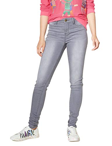 Desigual Damen Skinny Jeans Denim Long Trouser Sky Woman, Grau (Denim Light Grey 2060), W32