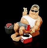Funny Life Figur - Camper mit Grill und Bier | Witzige Dekofigur, handbemalt