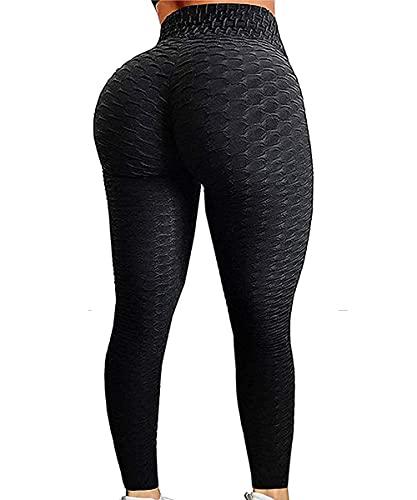 GILLYA Booty Yoga Pants Tiktok Butt Leggings Anit Cellulite Texutred Booty Lifting Leggings Scrunch Butt Yoga Pants
