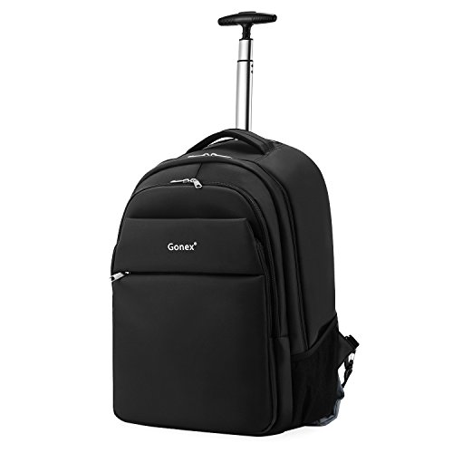 Gonex Rolling Backpack for Adults, 20 Inch Waterproof Wheeled Backpack Laptop Backpack with Wheels for Business Travel (Black)