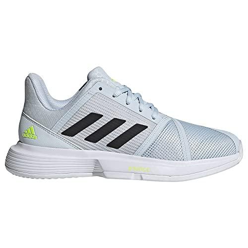 adidas CourtJam Bounce W Clay, Zapatillas Deportivas Mujer, FTWBLA/NEGBÁS/AZUHAL, 40 EU
