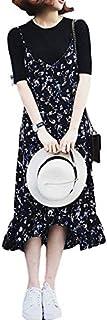 【NOGIノギ】アンサンブル フラワー マーメード キャミワンピース カットソー レディース ファッション フェミニン st0104