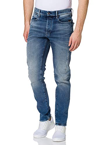 G-STAR RAW Citishield 3D Slim Tapered Jeans, Faded Clear Sky WP C051-c284, 28W x 32L para Hombre