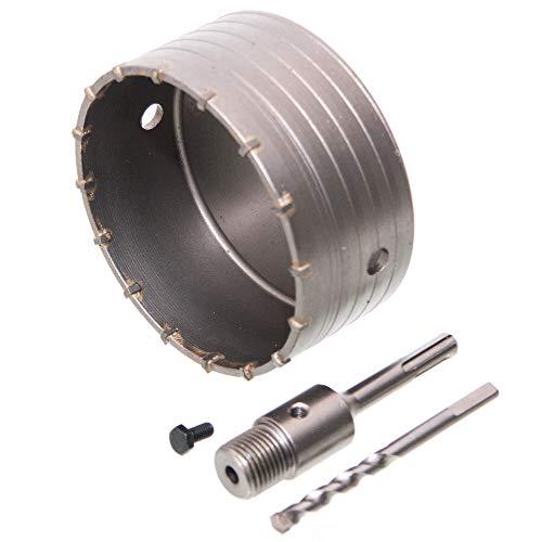 2 tgl HM Lochsäge Bohrkronen Satz Dosenbohrer Ø 125 mm für Beton mit SDS-Adapter