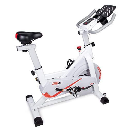 EVOLAND Indoor-Radfahrrad, 6 kg Schwungrad, Riemenantrieb, stationäres Fahrrad Heimtrainer mit LCD-Monitor für Heimausdauer, Cardio-Workout, Fahrrad-Training