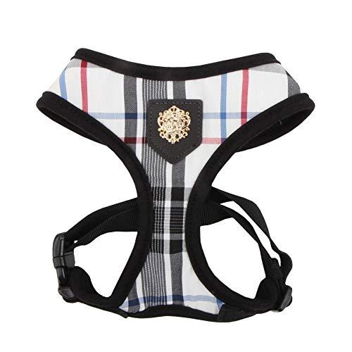 Puppia Junior - Hundegeschirr für kleine Hunde - leicht und super weich - Auch als Welpengeschirr verwendbar -Antizuggeschirr für Hunde, Schwarz, M