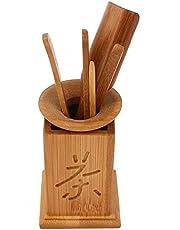 DaMohony Bamboo Tea Utensils Accesorios Set 6 PCs/Set para servir comida café o té