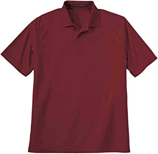 Mens UPF 30+ Solid Pique Casual Tops Polo,