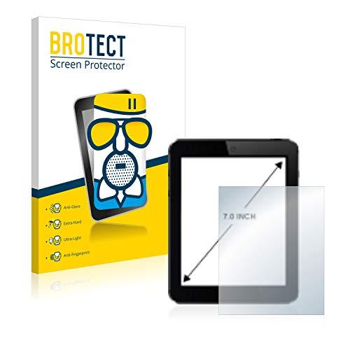 brotect Pellicola Vetro Opaca per Tablet PC con 17.8 cm (7 Pollici) [154.8 mm x 87 mm, 16:9] Protezione Schermo Anti-Riflesso Durezza 9H, AirGlass