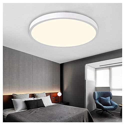 VIVITG LED Baño Lámpara de Techo, IP44 a Prueba de Agua Ajustable Color Temperatura Redondo Candelabros por Cuarto Cocina Comedor Encendiendo, 450 * 50 mm,Blanco