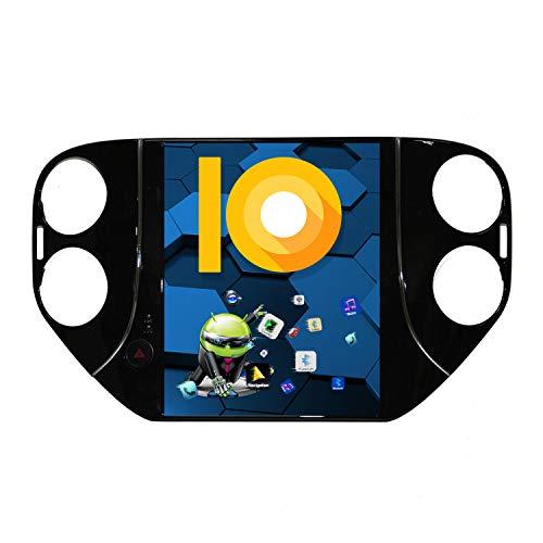 ZWNAV 10,4 pollici Android 9.0 Autoradio, per Ford per Volkswagen VW Tiguan 2010-2016, lettore DVD 2K con schermo verticale, Carplay DSP Bluetooth WiFi GPS Navigazione