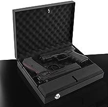 Gun Safe Box Lock Biometric Pistol Vault Firearm Security Key Pad Manual Locks [California DOJ Certified]