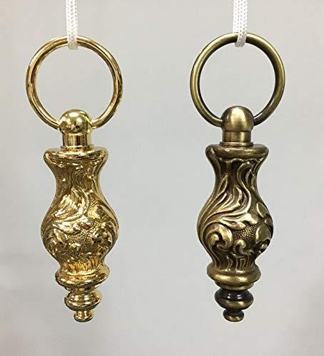Gordijnen voor gordijnen met ringen, goudkleurig, gordijn, gordijnrail, gordijnroede voor gordijnroedes en spansystemen, gemaakt in Italië