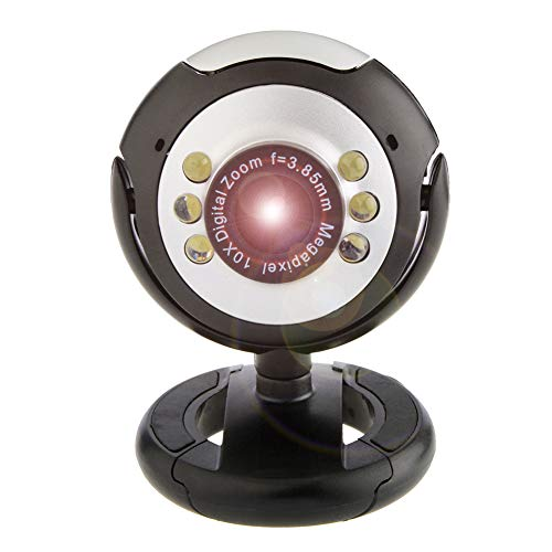 Plug and Play USB-camera, Streaming Webcam met Night Vision-functie voor Live Streaming, Gaming, Bellen en Conferencing Zaken Webcams
