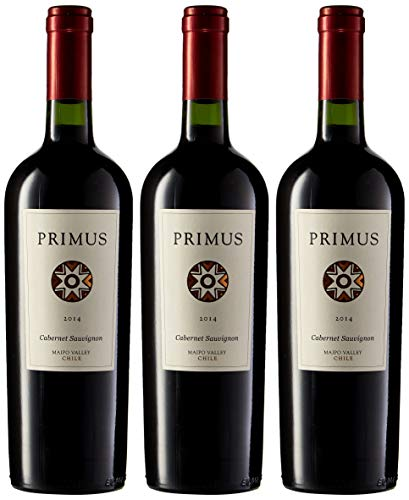 Primus Cabernet Sauvignon - Vino Chile - 3 Botellas x 750 ml - Total : 2250 ml