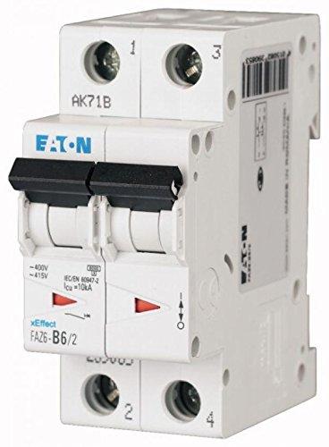 Eaton FAZ6-C50/2 Interruttore Automatico Magnetotermico FAZ6, 2P, 50A, Curva C