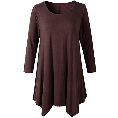 Z&Y Glaa Shirts V-Ausschnitt Bluse Button Up Tunika Casual Tops Sexy Frauen Loose Solid Irregular Langarm Baggy Jumper Casual Tops Bluse T-Shirt Casual V-Ausschnitt Plissee Tunika Tops Shirts Bluse
