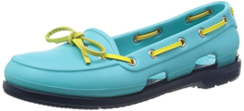 Crocs  Beach Line, Damen Bootsschuhe Blau Blue (Pool/Navy) 43
