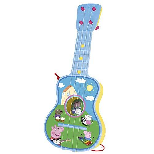 Peppa Pig - Guitarra en estuche, 4 cuerdas (Claudio Reig 2339.0), colores surtidos