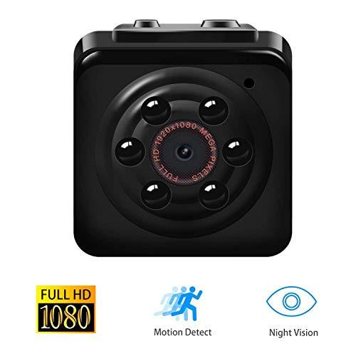 【Upgrade-Version】 1080P Mini Cam, Vaxiuja Surveillance Kamera Full HD Tragbare Kleine Nanny Cam mit Nachtsichtgerät für Zuhause / Büro / Garten / Garage / Indoor / Outdoor Sicherheit Kamera