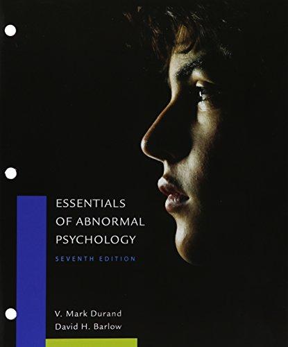 Bundle: Essentials of Abnormal Psychology, Loose-Leaf Version, 7th + MindTap Psychology, 1 term (6 months) Printed Acces