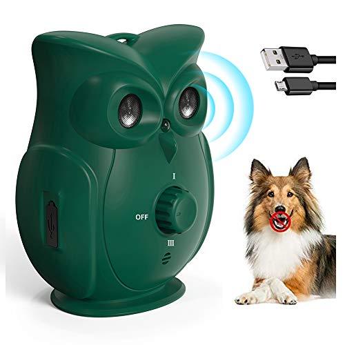 Dispositivos Antiladridos de Perros, Dispositivo de Ladridos Sónico a Prueba de Agua para Exterior, Artículos de Entrenamiento de Ladrido Perros Seguro y Humano