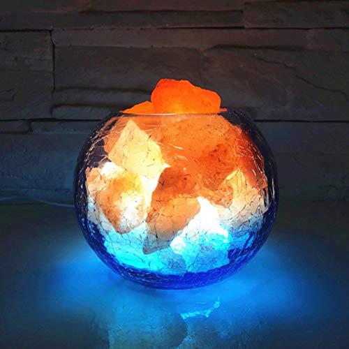 XHSHLID lavalamp met negatieve ionen leidt natuurlijk nachtlampje Himalayan luchtreiniger zoutlamp decoratie huis verlichting binnenverlichting tafellamp