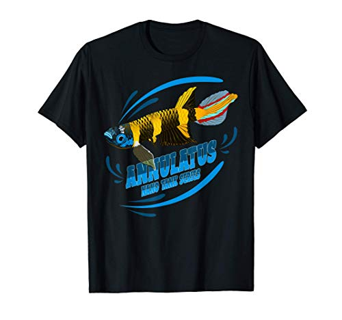 Ringelhechtling Nanofisch Aquaristik Aquascaper Geschenk T-Shirt
