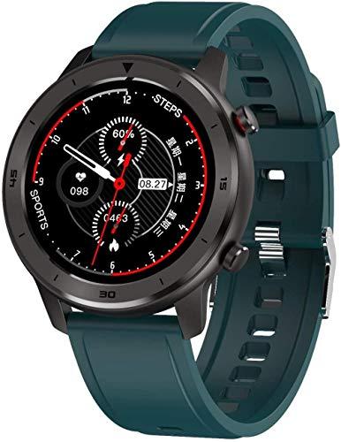 Smart Watch 1 3' pantalla táctil de alta definición multifunción modo deportivo podómetro impermeable inteligente Bluetooth pulsera para Android y iOS verde