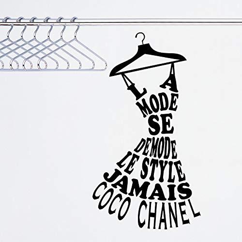 zhuzhuwen Drama Queen Wandtattoos , La Mode Se Demode Le Jamais Coco Französisch, Vinyl Kinderzimmer Wandbild Tapete 51X92Cm