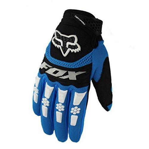 Lanrui Motorradhandschuhe Schutz Biker Rad Sport Training Glove Racing Handschuhe (M, Blau)