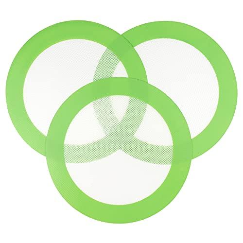 HEMOTON 3Pcs Rotonda del Silicone di Cottura Mat 20Cm/ 7. 8In Premium Antiaderente Riutilizzabile di Cottura Mat per La Rotonda della Torta Pan di Cottura della Fodera Fogli (20CM Verde)