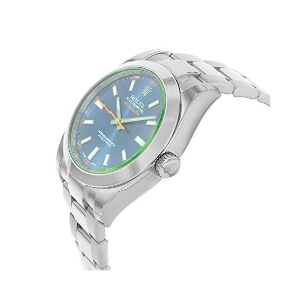 Fashion Shopping Rolex Milgauss 40 Blue Dial Stainless Steel Men's Watch 116400gv