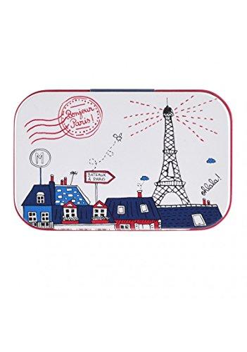 Petite Boîte à Tout BONJOUR PARIS En Métal - Dlp Derrière La Porte