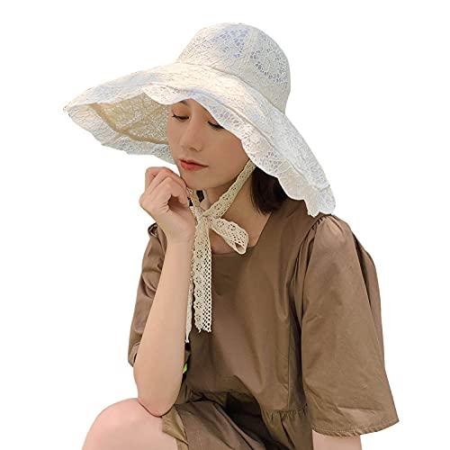QAZW Sombrero De Visera para Mujer Sombrero Enrollable Sombreros De Playa para Mujer Viseras De ala Ancha para Mujer Visera De Golf para Correr,Beige-1