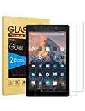 [2-Pack] Screen Protector Compatible with Fire HD 10, SPARIN Tempered Glass Compatible with All-New Fire HD 10 (9th / 7th, 2019/2017 Released) / Fire HD 10 Kids Edition