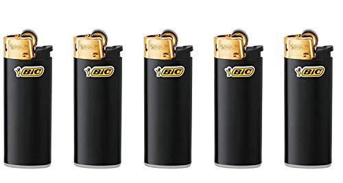 All u need BIC Mini Feuerzeuge Reibrad Lighter Neutral Flints Zündstein J25 5 Stück + Keyring Flaschenöffner + Transporthülle/Tube (5)