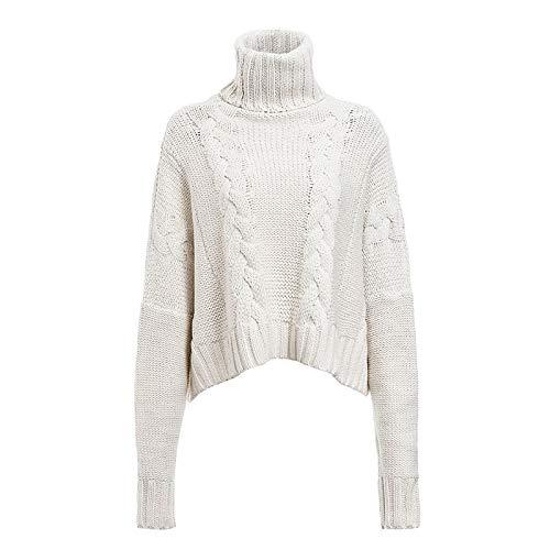Otoño e Invierno, suéter de Cuello Alto con Personalidad a la Moda para Mujer, Blusa Suelta Informal de...