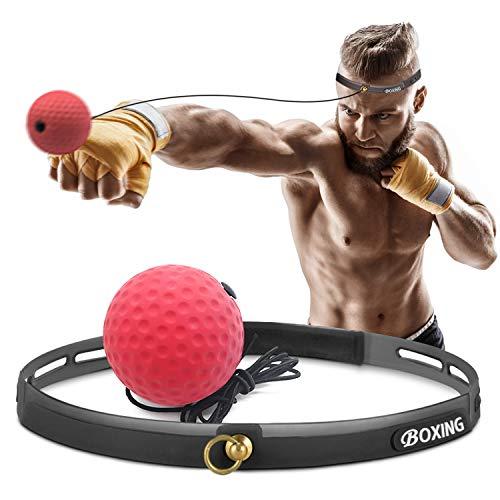Roysmart Pelota de boxeo con reflejo, pelota de entrenamiento de boxeo para...