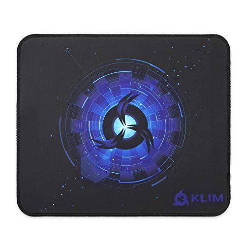 KLIM Tapis de Souris Medium - Surface Étendue (M) - Grand Tapis de Souris pour Gamer - Base en Caoutchouc Antidérapant - Surface Texturée Haute Précision - 320 x 270 x 4 mm - Bleu
