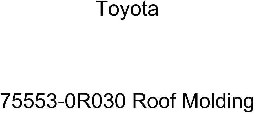 Easy-to-use TOYOTA Manufacturer OFFicial shop Genuine 75553-0R030 Roof Molding