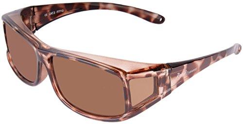 Rapid Eyewear dames POLARISERENDE OVERZET ZONNEBRIL voor wie een bril met sterkte nodig heft. UV400 bescherming. Schildpad. Gebruik voor autorijden, fietsen, hardlopen etc.