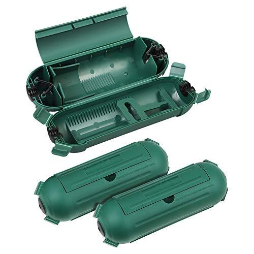 DEWENWILS Safebox mit 4 Klappen, Schutzbox für Kabel bis 9mm, IP44 Sicherheitsbox, 3er Schutzkapsel für Kabel und und Stecker der Feiertagsdekoration, Grün